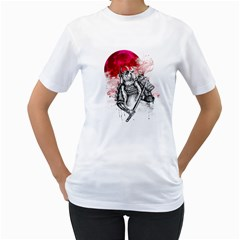 Undead Samurai Womens  T-shirt (White) by Contest1731890