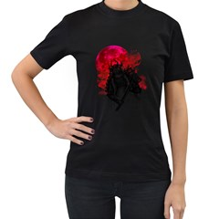 Undead Samurai Womens' Two Sided T-shirt (Black) by Contest1731890