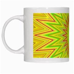 Mandala White Coffee Mug by Siebenhuehner