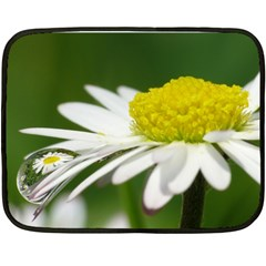 Daisy With Drops Mini Fleece Blanket (two Sided) by Siebenhuehner