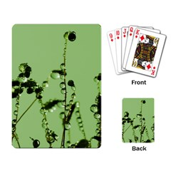 Mint Drops  Playing Cards Single Design by Siebenhuehner