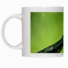 Green Drops White Coffee Mug by Siebenhuehner