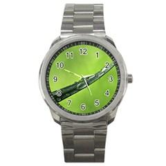 Green Drops Sport Metal Watch by Siebenhuehner