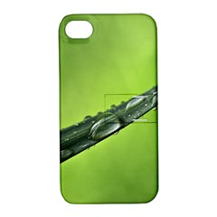 Green Drops Apple Iphone 4/4s Hardshell Case With Stand by Siebenhuehner