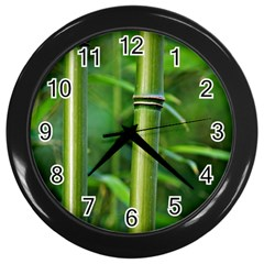 Bamboo Wall Clock (black) by Siebenhuehner