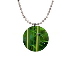 Bamboo Button Necklace by Siebenhuehner