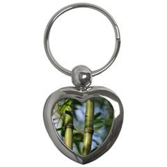 Bamboo Key Chain (heart) by Siebenhuehner