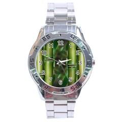 Bamboo Stainless Steel Watch by Siebenhuehner