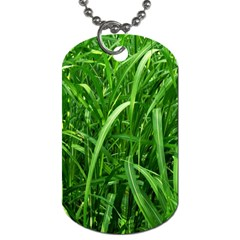 Grass Dog Tag (two Sided)  by Siebenhuehner
