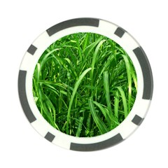 Grass Poker Chip by Siebenhuehner
