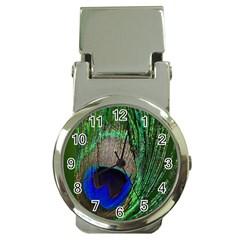 Peacock Money Clip With Watch by Siebenhuehner