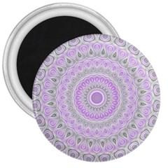 Mandala 3  Button Magnet by Siebenhuehner