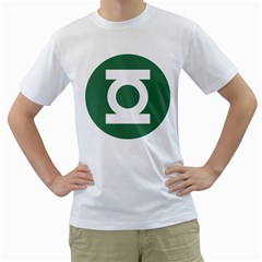 Green Lantern Mens  T Shirt (white) by Contest1630545