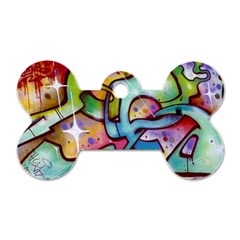 Graffity Dog Tag Bone (two Sided) by Siebenhuehner