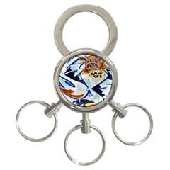 Graffity 3 Ring Key Chain by Siebenhuehner