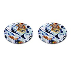 Graffity Cufflinks (oval) by Siebenhuehner