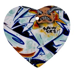 Graffity Heart Ornament (two Sides) by Siebenhuehner