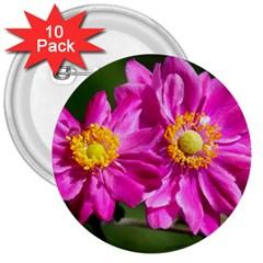 Flower 3  Button (10 Pack) by Siebenhuehner