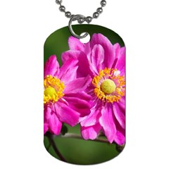 Flower Dog Tag (two Sided)  by Siebenhuehner