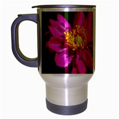 Flower Travel Mug (silver Gray) by Siebenhuehner