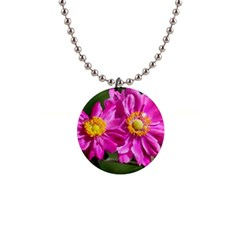 Flower Button Necklace by Siebenhuehner