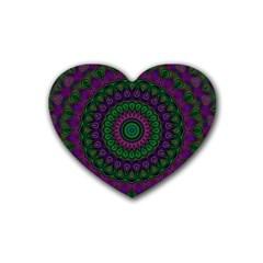 Mandala Drink Coasters 4 Pack (heart)  by Siebenhuehner