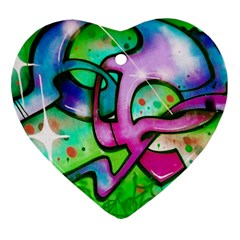 Graffity Heart Ornament by Siebenhuehner