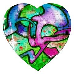 Graffity Jigsaw Puzzle (heart) by Siebenhuehner