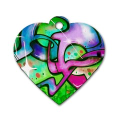 Graffity Dog Tag Heart (two Sided) by Siebenhuehner