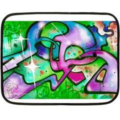Graffity Mini Fleece Blanket (two Sided) by Siebenhuehner