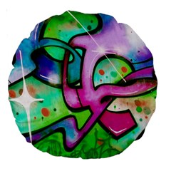 Graffity 18  Premium Round Cushion  by Siebenhuehner