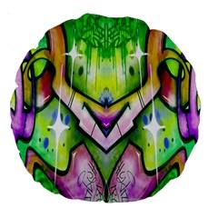 Graffity 18  Premium Round Cushion  by Siebenhuehner
