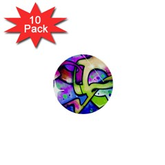 Graffity 1  Mini Button (10 Pack) by Siebenhuehner