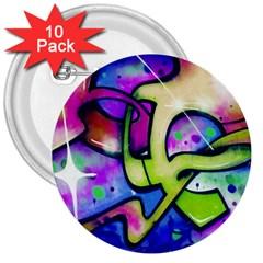 Graffity 3  Button (10 Pack) by Siebenhuehner