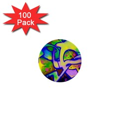 Graffity 1  Mini Button (100 Pack) by Siebenhuehner
