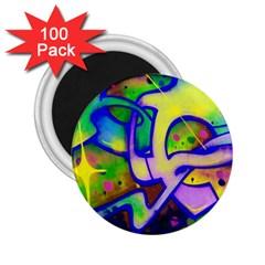Graffity 2 25  Button Magnet (100 Pack) by Siebenhuehner