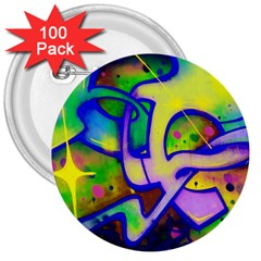 Graffity 3  Button (100 Pack) by Siebenhuehner
