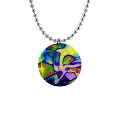 Graffity Button Necklace by Siebenhuehner