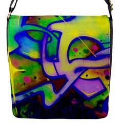 Graffity Flap Closure Messenger Bag (small) by Siebenhuehner
