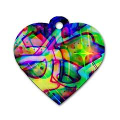 Graffity Dog Tag Heart (one Sided)  by Siebenhuehner
