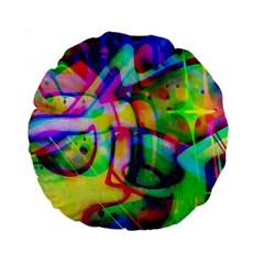 Graffity 15  Premium Round Cushion  by Siebenhuehner