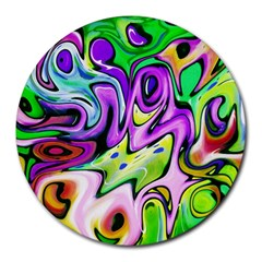 Graffity 8  Mouse Pad (round) by Siebenhuehner