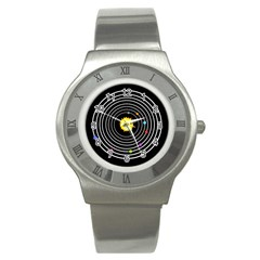 Solar System Stainless Steel Watch (slim) by PaolAllen2