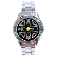 Solar System Stainless Steel Watch by PaolAllen2