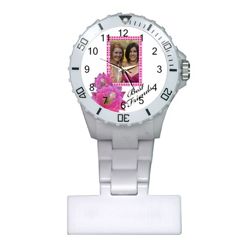 Best Friends Nurses Watch By Deborah   Plastic Nurses Watch   C7gf4wnqkzxo   Www Artscow Com Front