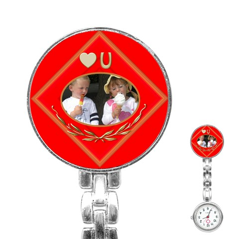 Love You Stainless Steel Nurses Watch By Deborah   Stainless Steel Nurses Watch   Wvoy8kctez2p   Www Artscow Com Front