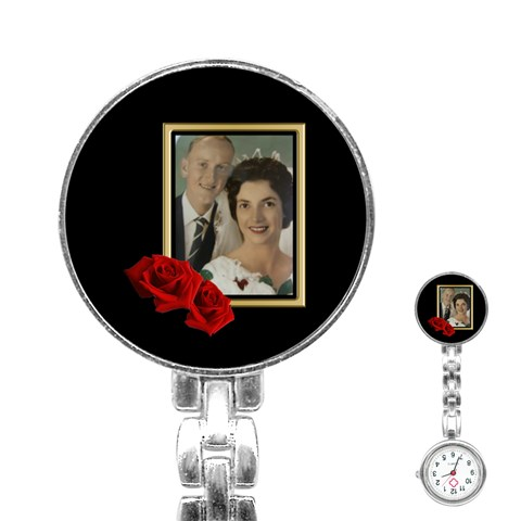 Wedding Stainless Steel Nurses Watch By Deborah   Stainless Steel Nurses Watch   71suvfretl2r   Www Artscow Com Front