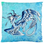 fox dragon pillow - Large Cushion Case (Two Sides)