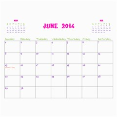 Momo Calendar By Miky Yuen   Wall Calendar 11  X 8 5  (12 Months)   521r51h7pqg8   Www Artscow Com Jun 2014