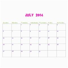 Momo Calendar By Miky Yuen   Wall Calendar 11  X 8 5  (12 Months)   521r51h7pqg8   Www Artscow Com Jul 2014